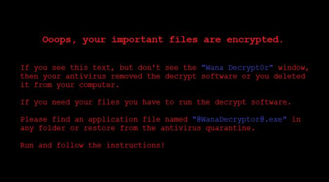программа-вымогатель, получившей название WannaCry.